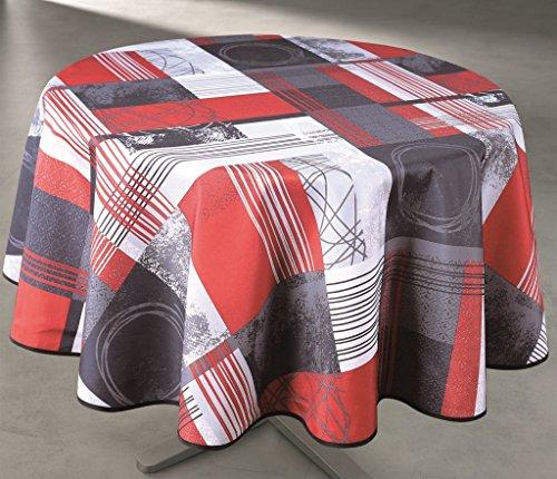 Nappe Anti-taches Ronde 160cm - Designer Rouge