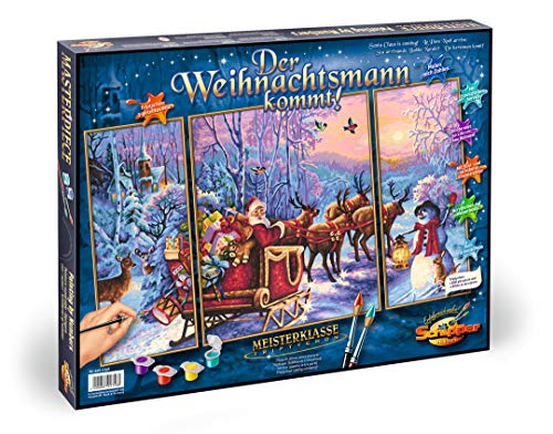 Simba Dickie 609260758 Malen nach Zahlen- Der Weihnachtsmann kommt! (Tripty)