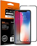 #8: Spigen Full Coverage Tempered Glass Screen Protector for Apple iPhone X Glass - Black (1Pack) 057GL22986