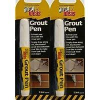 2 x white grout pens bathroom kitchen