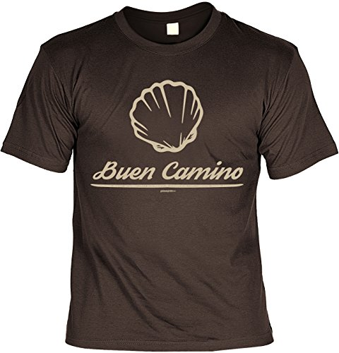 Wander T-Shirt Buen Camino Kletter Bergsteiger Shirt 4 Heroes Geburtstag Geschenk geil bedruckt Braun