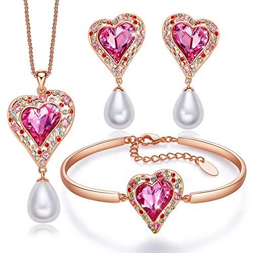 CDE Halskette und Armband und Ohrringe Set,Embellished