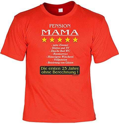Kostüme Mama Disco (Witziges Sprüche Fun T-Shirt : Pension Mama)