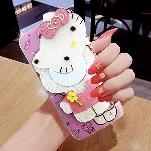Triney Mirror Hello Kitty(Colour May Very) Girls Back Cover for Oppo A3S
