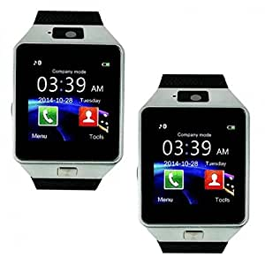 Levono A680 (COMPATIBLE) Bluetooth Certified Smart Watch All 2G, 3G,4G Phone, GT08 Wrist Watch Phone with Camera & SIM Card Support Hot Fashion New Arrival Best Selling Premium Quality Lowest Price with Apps like Facebook, Whatsapp, Read Message or News, Sports, Health, Pedometer, Sedentary Remind & Sleep Monitoring, Better Display, Loud Speaker, Microphone, Touch Screen, Multi-Language, Compatible with Android iOS Mobile Tablet PC iPhone by MOBIMINT