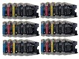 30 TINTENPATRONEN für Brother mit FREIER FARBAUSWAHL ersetzt LC-1220 LC-1240 LC-1280 DCP-J525W DCP-J725DW DCP-J925DW MFC-J430W MFC-J625DW MFC-J825DW MFC-J5910DW MFC-J6510DW MFC-J6710DW MFC-J6910DW