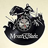 Passeggiate a cavallo con i regali di arte di hackerato vinile nero vuoto record parete orologio etilene materiale classico creativo pareti