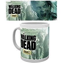Taza de desayuno en estuche regalo (cerámica) The Walking Dead, diseño de temporada 2, zombis