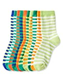 RED WAGON Striped Chaussettes Garçon, Multicolore (Multicolour), 30.5-35.5 (taille du fabricant: 12-3 UK), Lot de 10