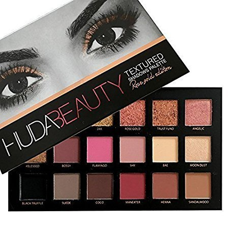 HUDA Beauty Eye Shadow Textured Palette - Rose Gold Edition