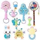 LBCTOYSLBC Baby Spielzeug 3-6-12 Monate Neugeborenen Rassel 0-1 Jahre Alt männlich und Weiblich Baby frühkindliche Kinder Hand Glocken, 7