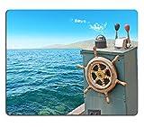 luxlady Gaming Mousepad imagen ID: 34805418Close Up de una rueda de barco de Vintage en el agua Shot en CERDEÑA Italia