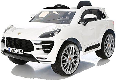 RC Kinderauto kaufen Kinderauto Bild 1: Porsche Macan Turbo viele LED Effekte Soft Start Kinderauto Kinderfahrzeug Kinder Elektroauto Weiss*