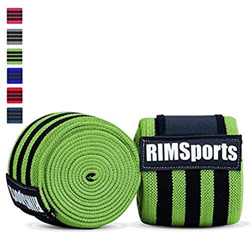 Fasce premium per ginocchia per ginnastica, Crossfit; fasce ottime per squat, ideali per sollevamento pesi, Neon Green