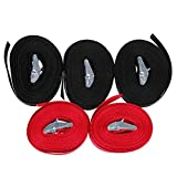 Anpro 5 Pack Tensioning Belts Lashing Strap Trailer Tie Down Straps 2.5 cm x 5 m