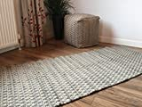 Second Nature Gorgeous grau beige Zig Zag Design Weiche Indian Runner Teppich, 70 cm x 140 cm