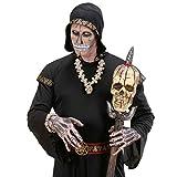 Halskette-Totenkopf-Halloween-Totenkopfkette-Voodoo-Schdel-Schdelkette-Hals-Kette-Totenschdel-Kostm-Zubehr