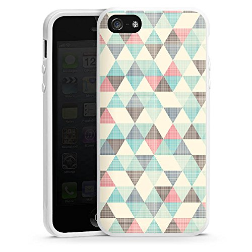 Apple iPhone 5s Silikon Hülle Case Schutzhülle Dreiecke Vintage Pattern Muster