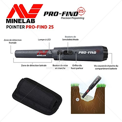 Minelab - Detector de metales Pro Find 25, con pinpointer