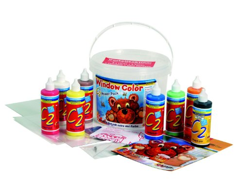 Hobby Line 40151 - C2 Glas Design Fenstermalfarben Set Power Pack