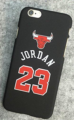Coque iPhone 6 6S Michael Jordan NBA Air 23 Chicago Bulls Plastique rigide Noir et Rouge