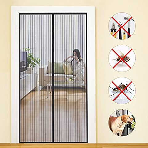 Magnetic Screen Door KEEP INSECTS OUT Mosquito Door Screen Easy