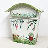 CQ Warme Libelle Brief Box ländlichen Eisen Gürtel Lock Vorschlag Box im Freien Postfach Kreative Wand Briefkasten Postfach