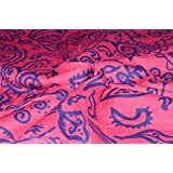 Rajcrafts Pink color Jaiprui Cotton Running Fabric 3 Meter Dress Making Fabric, Fabric, Running Fabric, Cotton Fabric, Dress Runnig fabric,Handmade Fabric , Hand block Fabric, Fabric By Meter, Cotton Fabric For men, Cotton fabric for woman