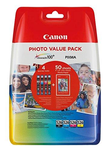 Canon CLI-526 Multipack Tintenpatrone (C/M/Y/BK), 4er Pack Canon Pack