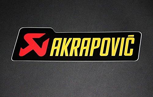 2x Akropovic Aufkleber Sticker 1 Autocollant digital druck Motorrad Bike Auspuff Exhaust Auto JDM Racing Dub