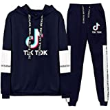 Aibayleef TIK TOK Conjunto Dos Piezas Completo Capucha Sudadera Blusa y Pantalon para Mujer Hombre Chandal Gimnasio Sportwear