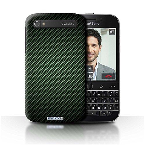 Stuff4® Hülle/Hülle für BlackBerry Classic/Q20 / Grün Muster/Kohlenstoff-Faser-Muster Kollektion