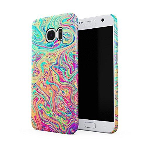 Soap Film (Soap Film Tie Dye Colorful Iridescent Pale Rad Indie Boho Tumblr Dünne Rückschale aus Hartplastik für Samsung Galaxy S7 Handy Hülle Schutzhülle Slim Fit Case cover)