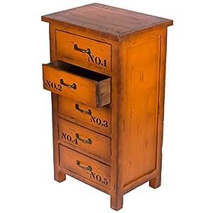 kleinm bel fg a 54 kommode hoher teeschrank holz telefontisch kommode 5 schubladen. Black Bedroom Furniture Sets. Home Design Ideas