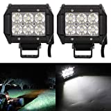 #8: Andride 6 LED Fog Light / Work Light Bar Spot Beam Off Road Driving Lamp 2 Pcs 30W Cree,Universal Fitting hence Good Fit LED Work Lights for Royal Enfield, Truck, Car, ATV, SUV, Jeep all Bikes and Cars (White)