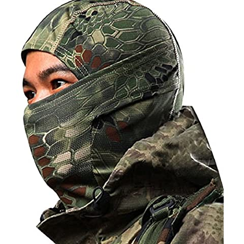 Malloom® 1pc Camuffamento Maschera Esercito Cappellino Moto Cappelli Passamontagna Pieno