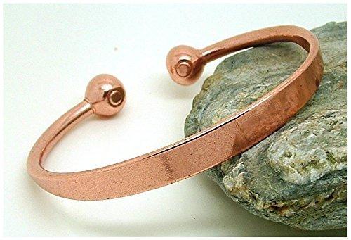 Preisvergleich Produktbild BRANDNEU Magnetfeldtherapie weiches Kupfer Drehmoment Design Armband / Armreif 1m Klein - delikat handgefertigt und hervorragend Vollendet - in Großbritannien