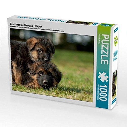 Deutscher Schäferhund - Welpen 1000 Teile Puzzle quer -