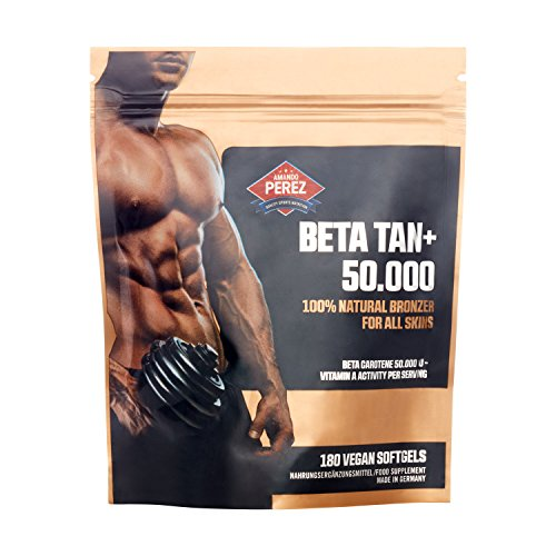 BETA TAN+ / 50.000 IE Beta Carotin pro Dosis - 180 vegane Softgels - 100{c13a98dedb0753aafc32a1d169a1d5279e9d7010a90a72fd8ab72f21f8e0bb99} natural bronzer for all skins