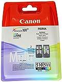 2 Cartouche d'encre pour Imprimante Canon Pixma MP280 - Multi-Color