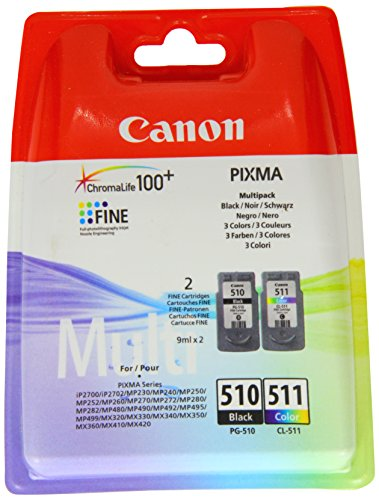 Preisvergleich Produktbild Canon PG-510 + CL-511 2 PACK Tintenpatrone