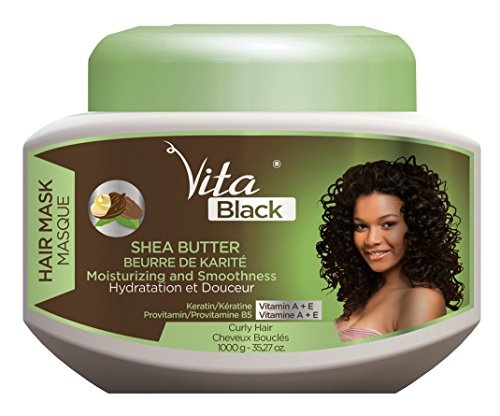 Vita Black Shea Butter Moisturizing and Smoothness Hair Mask 1000g Shea Butter Hair Mask