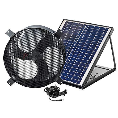 20W Solar Dachboden Fans, Ventilator Solarbetriebene Entlüftung Abluftventilator Wechselstrom Unterstützung, 1750CFM, schwanzlosen DC-Motor, justierbares Sonnenkollektor