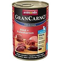 Animonda GranCarno Hundefutter Original Junior Rind + Putenherzen, 6er Pack (6 x 400 g)
