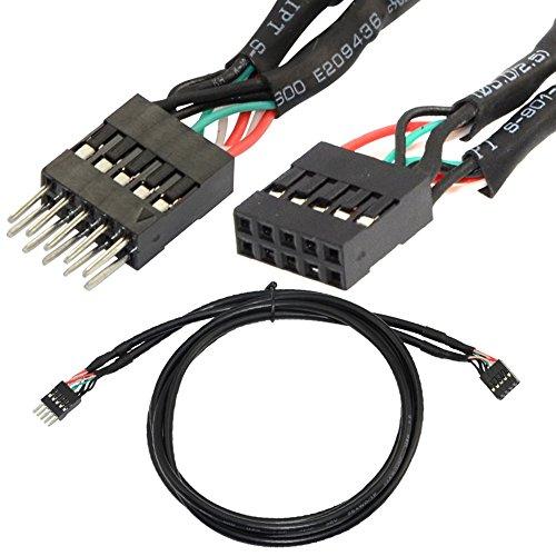Preisvergleich Produktbild 1M 10 Pin Stecker Auf Buchse USB Header Externe Festplatte Verlaengerungskabel