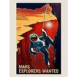 Wee Blue Coo LTD NASA Poster Space Exploration Job Advert Explorers Art Print Affiche Espace La publicité Explorer Impression d'art