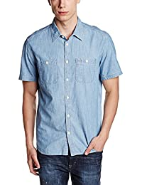 GAP Men's Icon Denim Worker Short Sleeve Shirt