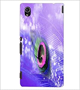 PrintDhaba Peacock Feather D-4934 Back Case Cover for SONY XPERIA M4 AQUA (Multi-Coloured)