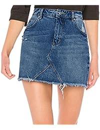 Amazon.es  Minifalda jean  Ropa 9fa566cf8f9b