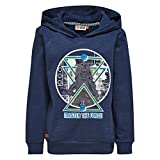Lego Wear Jungen Sweatshirt Star Wars Saxton 351-SWEATSHIRT MIT Kapuze, Blau (Dark Navy 589), 110